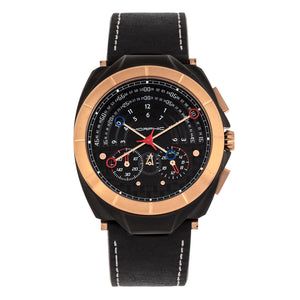 Morphic M79 Series Chronograph Leather-Band Watch - Black - MPH7906