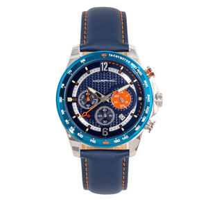Morphic M88 Series Chronograph Leather-Band Watch w/Date - Navy/Blue - MPH8802