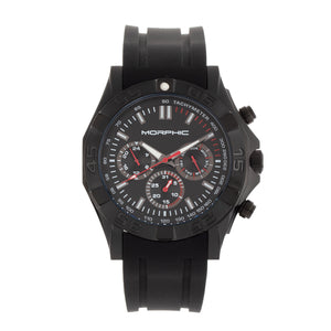 Morphic M75 Series Tachymeter Strap Watch w/Day/Date - Black - MPH7506