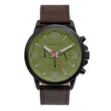 Load image into Gallery viewer, Morphic M86 Series Chronograph Leather-Band Watch - Black/Dark Brown - MPH8607