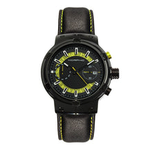 Load image into Gallery viewer, Morphic M91 Series Chronograph Leather-Band Watch w/Date - Black/Yellow - MPH9106