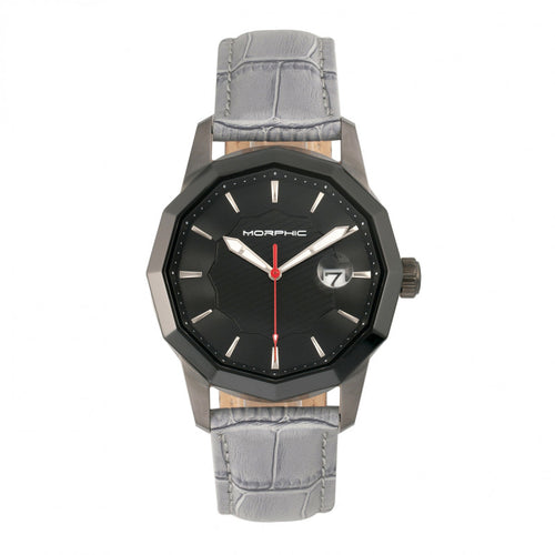 Morphic M56 Series Leather-Band Watch w/Date - MPH5605