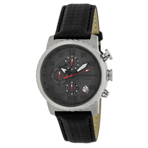 Morphic M38 Series Chronograph Men?s Watch w/ Date - Silver/Charcoal - MPH3803