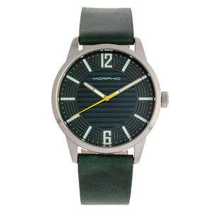 Morphic M77 Series Leather-Band Watch - Green - MPH7704