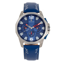 Load image into Gallery viewer, Morphic M82 Series Chronograph Leather-Band Watch w/Date - Silver/Blue - MPH8203