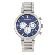 Load image into Gallery viewer, Morphic M87 Series Chronograph Bracelet Watch w/Date - Silver/Blue - MPH8703