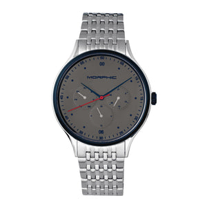 Morphic M65 Series Bracelet Watch w/Day/Date - Silver/Grey - MPH6501