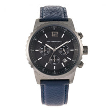 Load image into Gallery viewer, Morphic M67 Series Chronograph Leather-Band Watch w/Date - Gunmetal/Blue - MPH6706