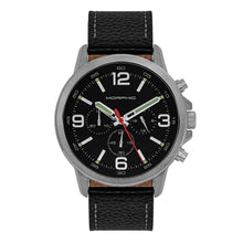 Load image into Gallery viewer, Morphic M86 Series Chronograph Leather-Band Watch - Silver/Black - MPH8602
