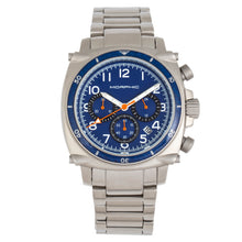 Load image into Gallery viewer, Morphic M83 Series Chronograph Bracelet Watch w/ Date - Silver/Blue - MPH8302