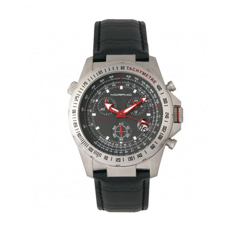 Morphic M36 Series Leather-Band Chronograph Watch - MPH3604
