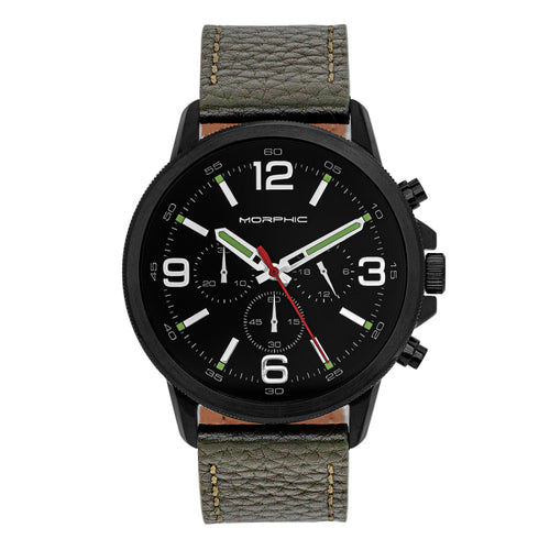Morphic M86 Series Chronograph Leather-Band Watch - MPH8606