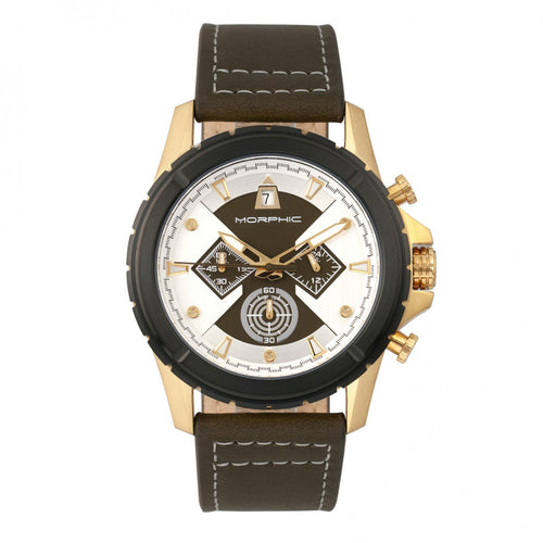 Morphic M57 Series Chronograph Leather-Band Watch - MPH5704