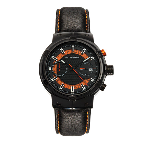 Morphic M91 Series Chronograph Leather-Band Watch w/Date - MPH9105
