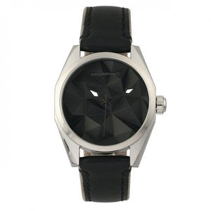 Morphic M59 Series Leather-Overlaid Canvas-Band Watch