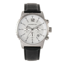 Load image into Gallery viewer, Morphic M67 Series Chronograph Leather-Band Watch w/Date - Silver/Black - MPH6701