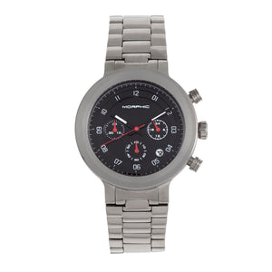 Morphic M78 Series Chronograph Bracelet Watch - Silver/Black - MPH7802