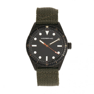 Morphic M69 Series Canvas-Band Watch - Black/Olive - MPH6906