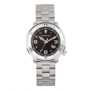 Morphic M74 Series Bracelet Watch w/Magnified Date Display - Gunmetal/Silver/Black - MPH7401