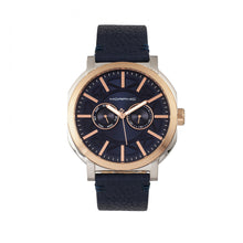 Load image into Gallery viewer, Morphic M62 Series Leather-Band Watch w/Day/Date - Rose Gold/Navy - MPH6206