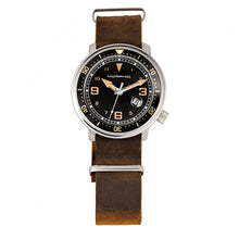 Load image into Gallery viewer, Morphic M74 Series Leather-Band Watch w/Magnified Date Display - Brown/Black & Gold/Black - MPH7411