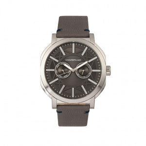 Morphic M62 Series Leather-Band Watch w/Day/Date