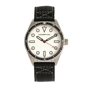 Morphic M69 Series Canvas-Band Watch - Silver - MPH6901