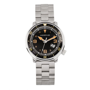 Morphic M74 Series Bracelet Watch w/Magnified Date Display - Gunmetal/Black & Gold/Black - MPH7406