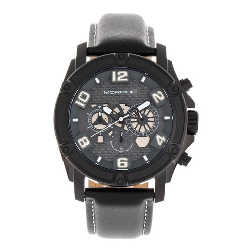 Morphic M73 Series Chronograph Leather-Band Watch - MPH7306