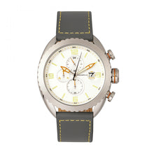 Load image into Gallery viewer, Morphic M64 Series Chronograph Leather-Band Watch w/ Date - Silver/Grey - MPH6401
