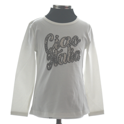 Wit T-shirt Ciao Italia