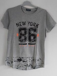T-shirt New York grijs