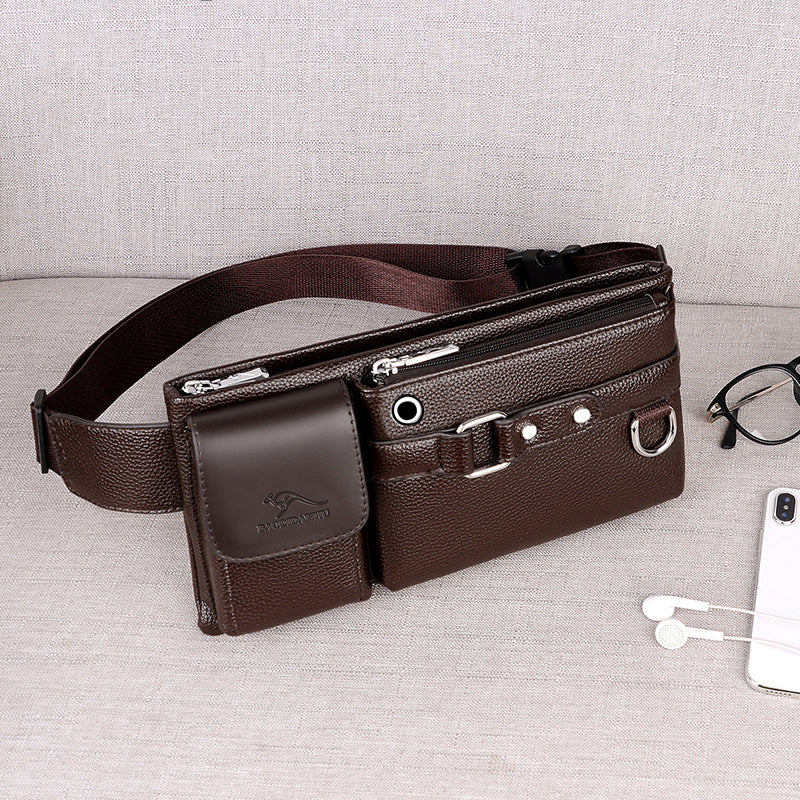 【50% OFF+FREE SHIPPING】Men Leather Fanny Pack Chest Bag