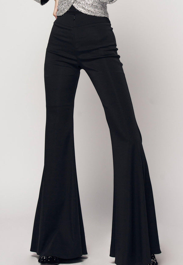 Narro Stretchy Flare Viscose Zip Front Pants - NARRO