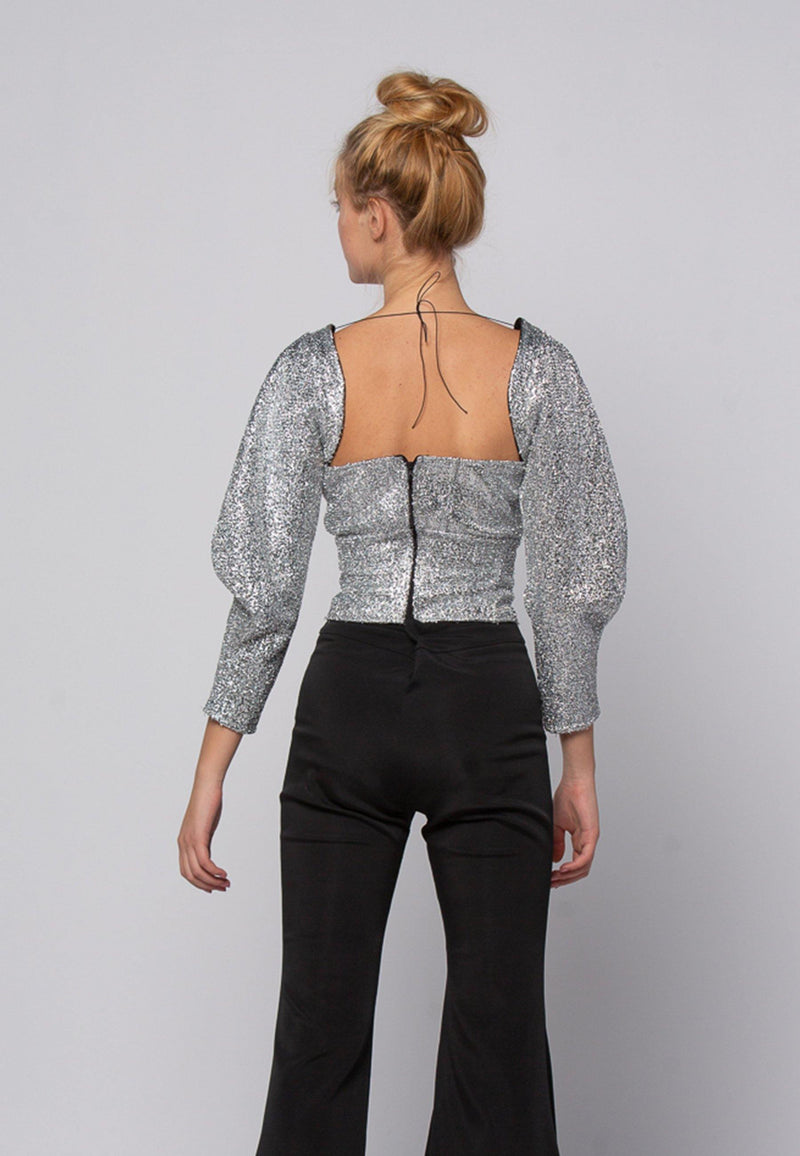Silver Lurex Top - NARRO