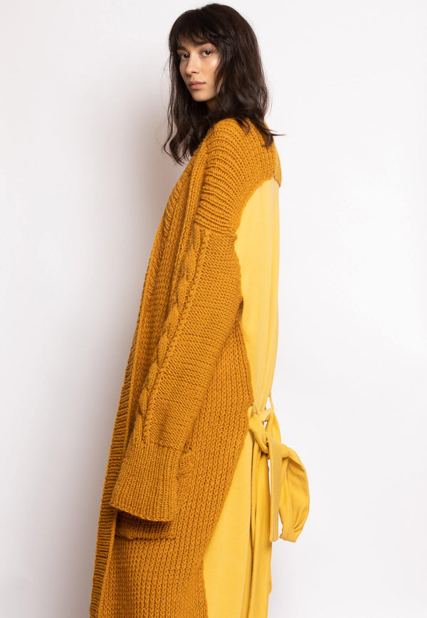 Knit Cardigan with Cotton Back