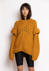 Pullover with Enhansed Knitted Shoulders - NARRO