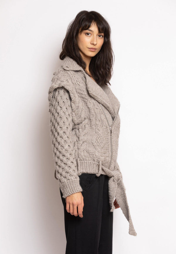 Wool Biker Jacket - NARRO