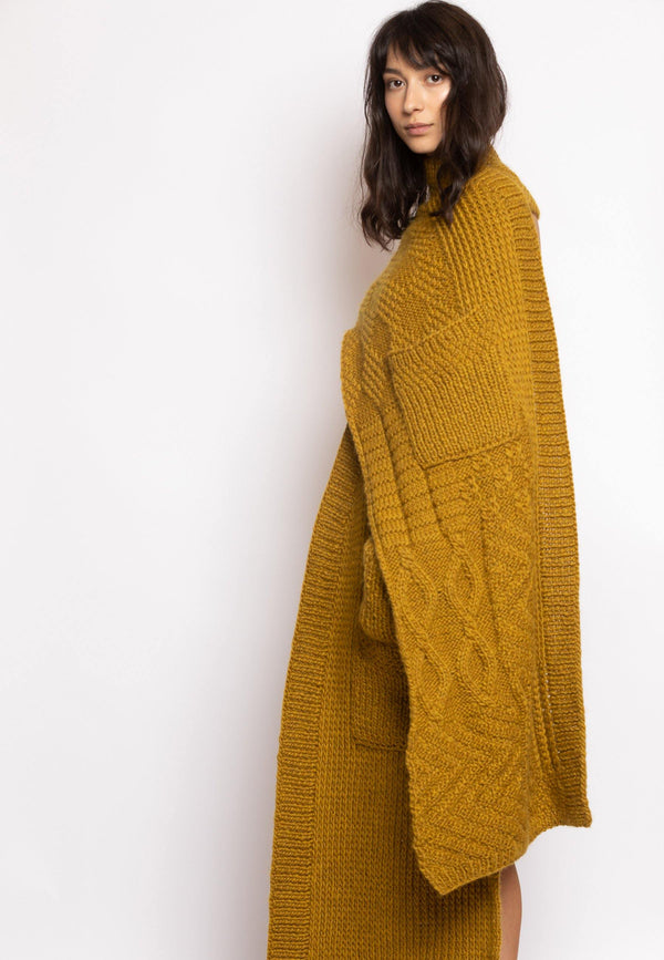 Knitted Cardigan with Loose Back