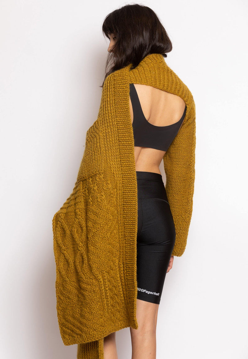 Knitted Cardigan with Loose Back - NARRO