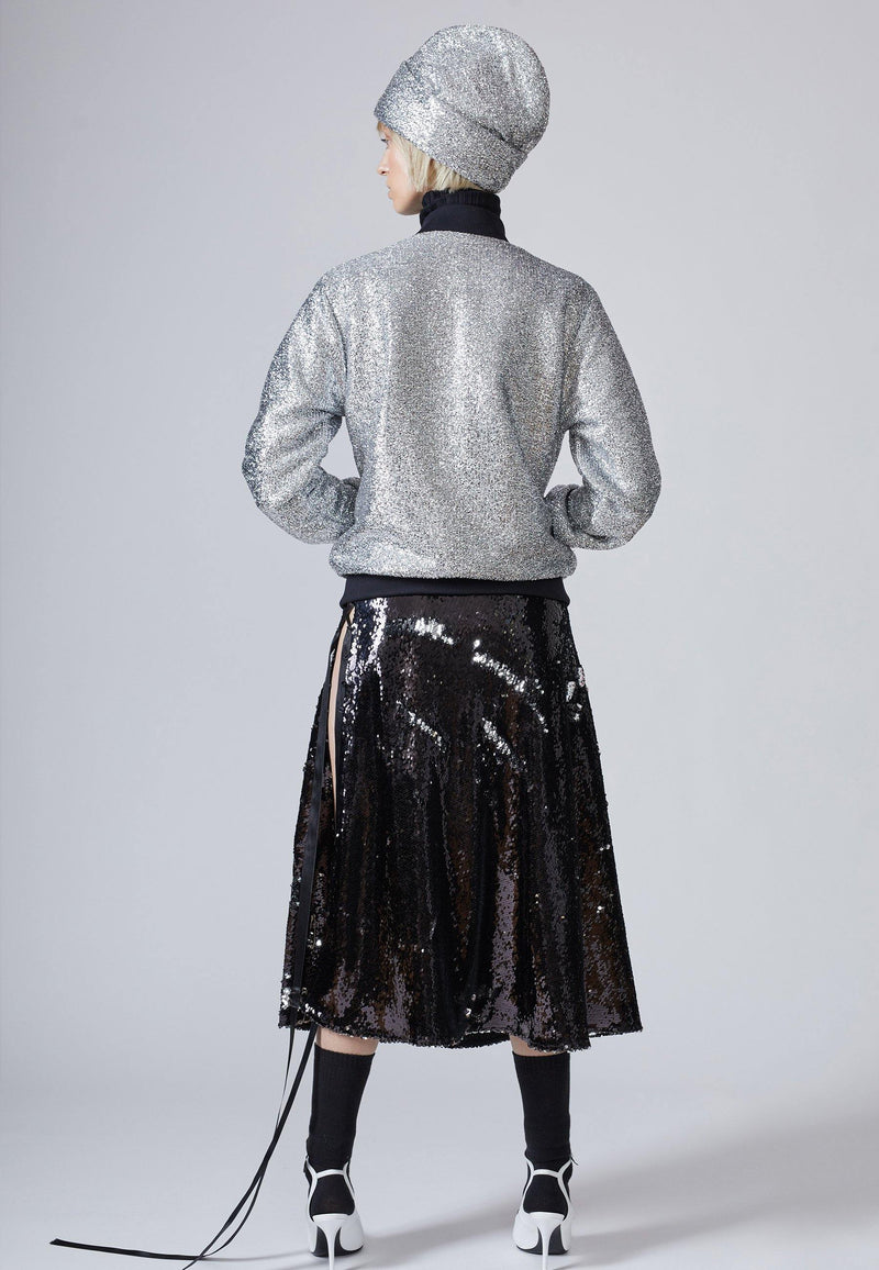Sparkly Lurex Bomber Jacket - NARRO