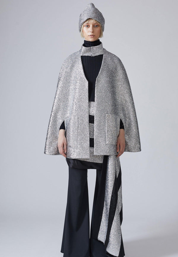 Sparkly Lurex Cape - NARRO
