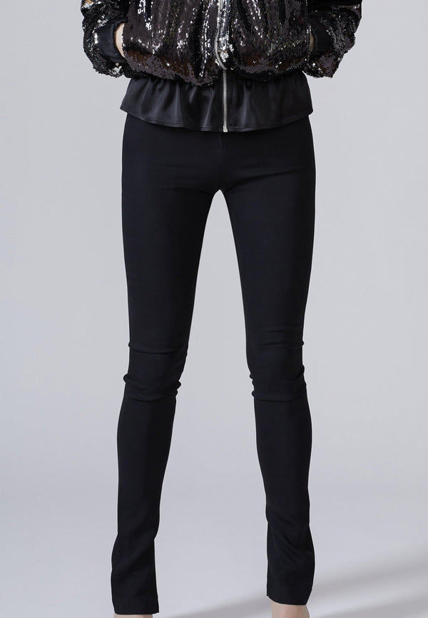 Slim-Leg Split-Cuff Pants