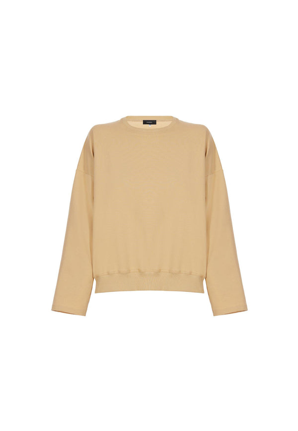 Organic Cotton Sweatshirt in Dusty Yellow