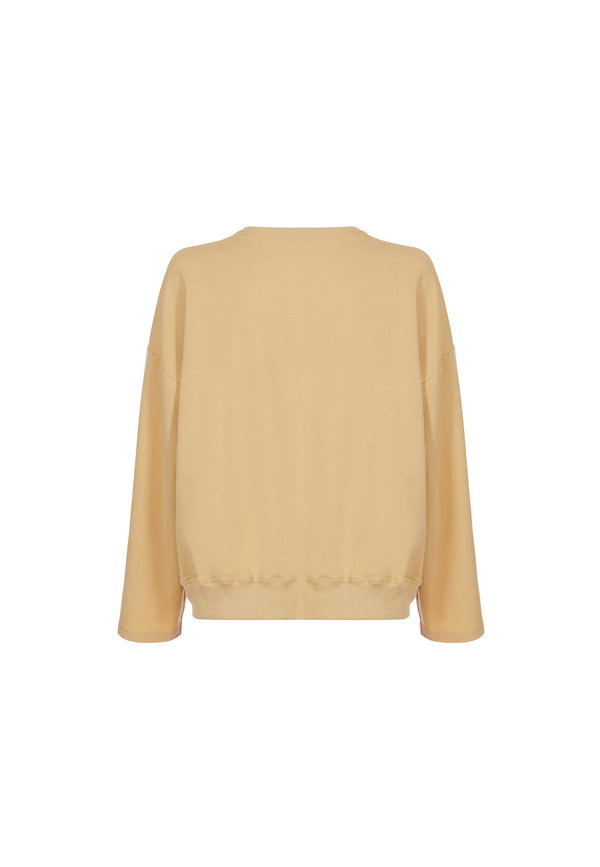 Organic Cotton Sweatshirt in Dusty Yellow - NARRO
