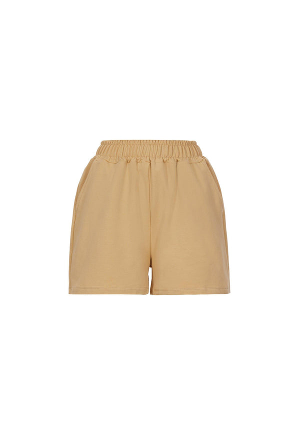 Organic Cotton Shorts in Dusty Yellow - NARRO