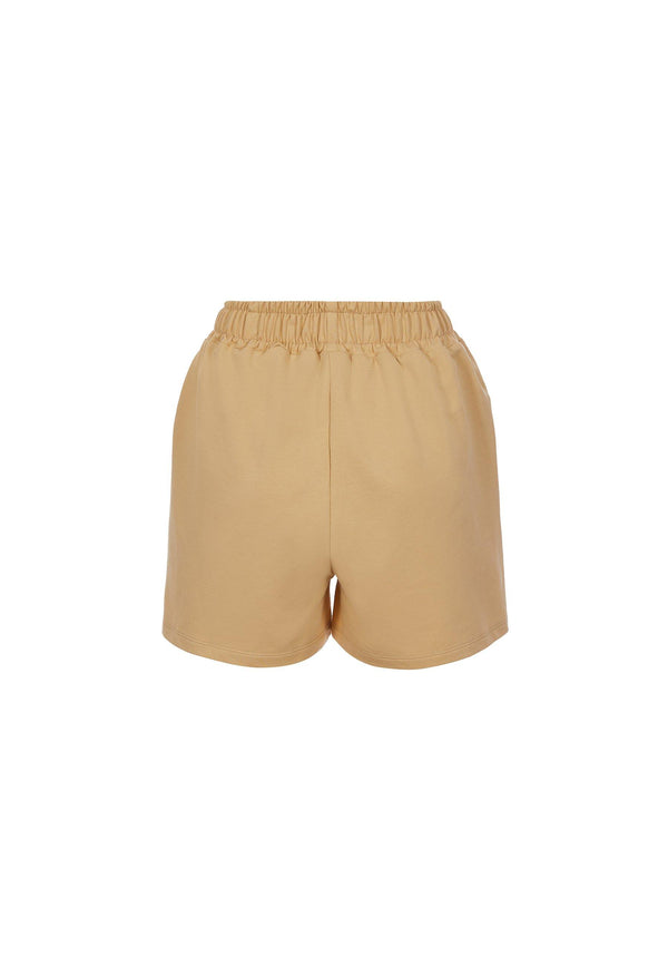 Organic Cotton Shorts in Dusty Yellow