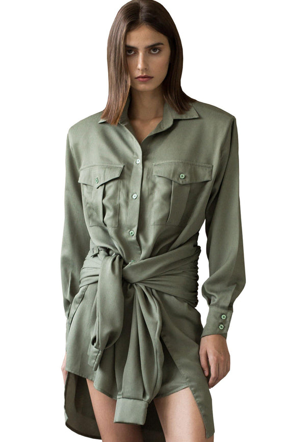 Deconstructed Shirt Dress - NARRO