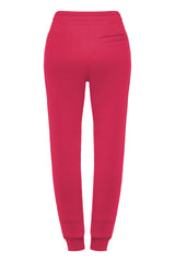 Overlapped Front Sweatpants in Fucsia