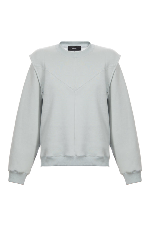 Layered Shoulder Sweatshirt in Mint